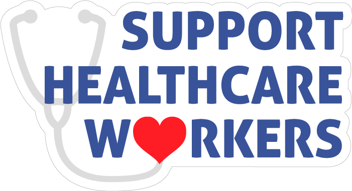 Support Healthcare Workers Stickers
