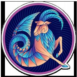 Capricorn Zodiac Sign Sticker.