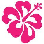 Hawaiian Flower Transfer Sticker