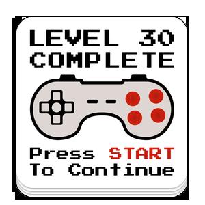 Level 30 sticker
