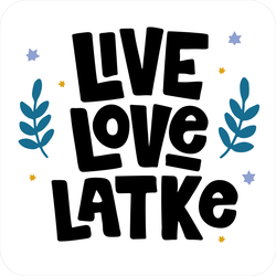 Live Love Latke Sticker.