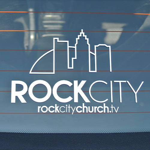Rock city custom cut out stickers