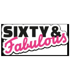 Sixty and Fabulous Sticker