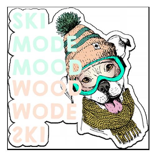 Ski Mood Dog Stickers