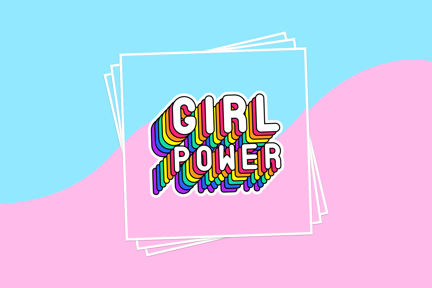 Girl Power Sticker.