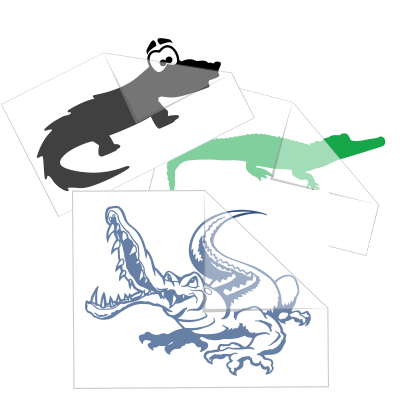 Alligator Crocodile Stickers and Decals