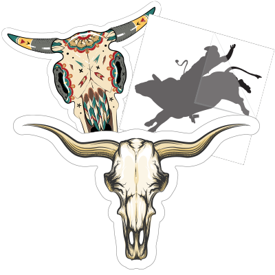 Bull Car Stickers and Decals