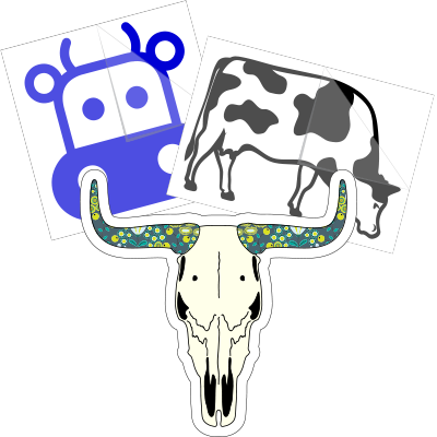 Cow Car Stickers and Decals