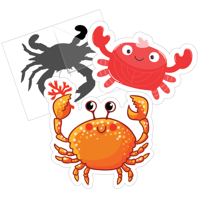 Crab Car Stickers and Decals