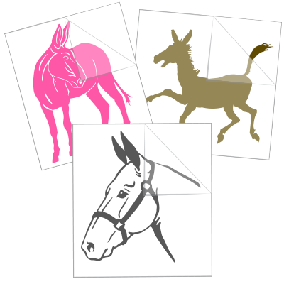 Donkey Mule Stickers and Decals