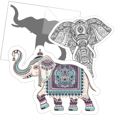 Elephant Car Stickers and Decals