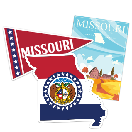 Missouri Car Stickers and Decals
