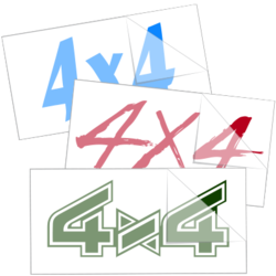4 x 4 Truck Car Stickers and Decals