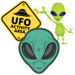 Alien Car Stickers and Decals