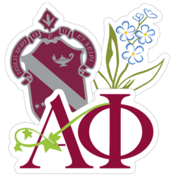 Alpha Phi Car Stickers and Decals