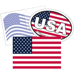 American Flag Car Stickers and Decals