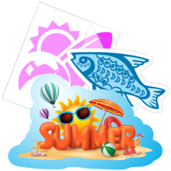 Ocean Beach Car Stickers and Decals