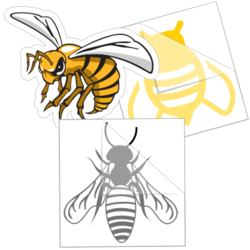Bee Car Stickers and Decals