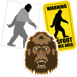 Bigfoot Sasquatch Car Stickers and Decals