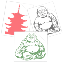 Buddhist Car Stickers and Decals