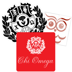 Chi Omega Car Stickers and Decals