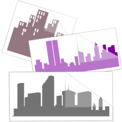City Skyline Car Stickers and Decals