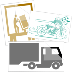 Courier Delivery Service Car Stickers and Decals