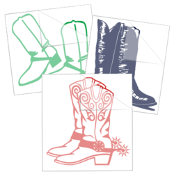 Cowboy Boot Stickers and Decals