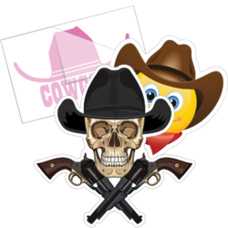 Cowboy Hat Car Stickers and Decals