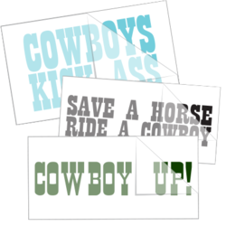 Cowboy Saying Car Stickers and Decals