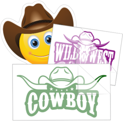 Cowboy Car Stickers and Decals