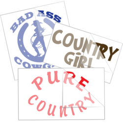 Cowgirl Saying Car Stickers and Decals
