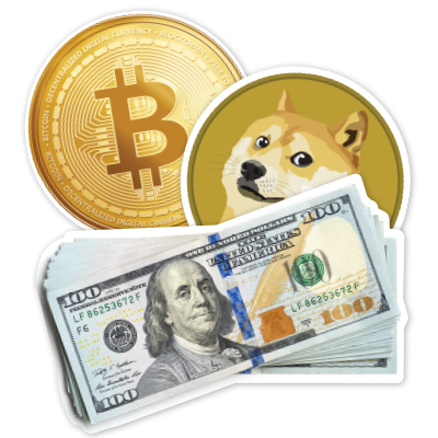Currency Stickers and Decals