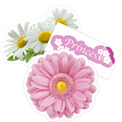 Daisy Flower Car Stickers and Decals