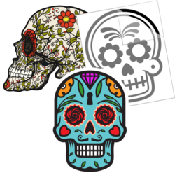 Day of the Dead Car Stickers and Decals