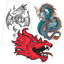 Dragon Car Stickers and Decals