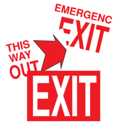 Exit Sign Car Stickers and Decals