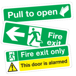 Fire Exit Sign Car Stickers and Decals