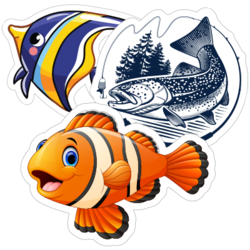 Fishing Car Stickers and Decals