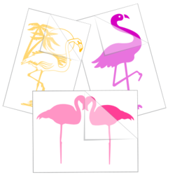 Flamingo Car Stickers and Decals