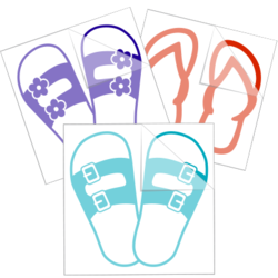 Flip Flop Car Stickers and Decals