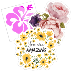 Flower Stickers and Decals