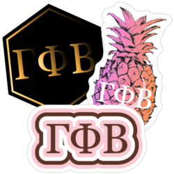 Gamma Phi Beta Car Stickers and Decals