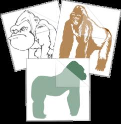 Gorilla Ape Car Stickers and Decals