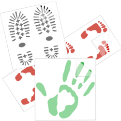 Handprints and Footprints Car Stickers and Decals