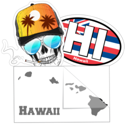 Hawaiian Islands Car Stickers and Decals