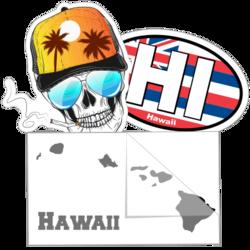 Hawaiian Islands Car Stickers and Decals
