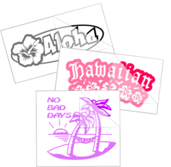 Hawaiian Sayings Car Stickers and Decals