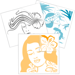 Hawaiian Girl Car Stickers and Decals