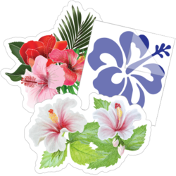 Hibiscus Flower Car Stickers and Decals